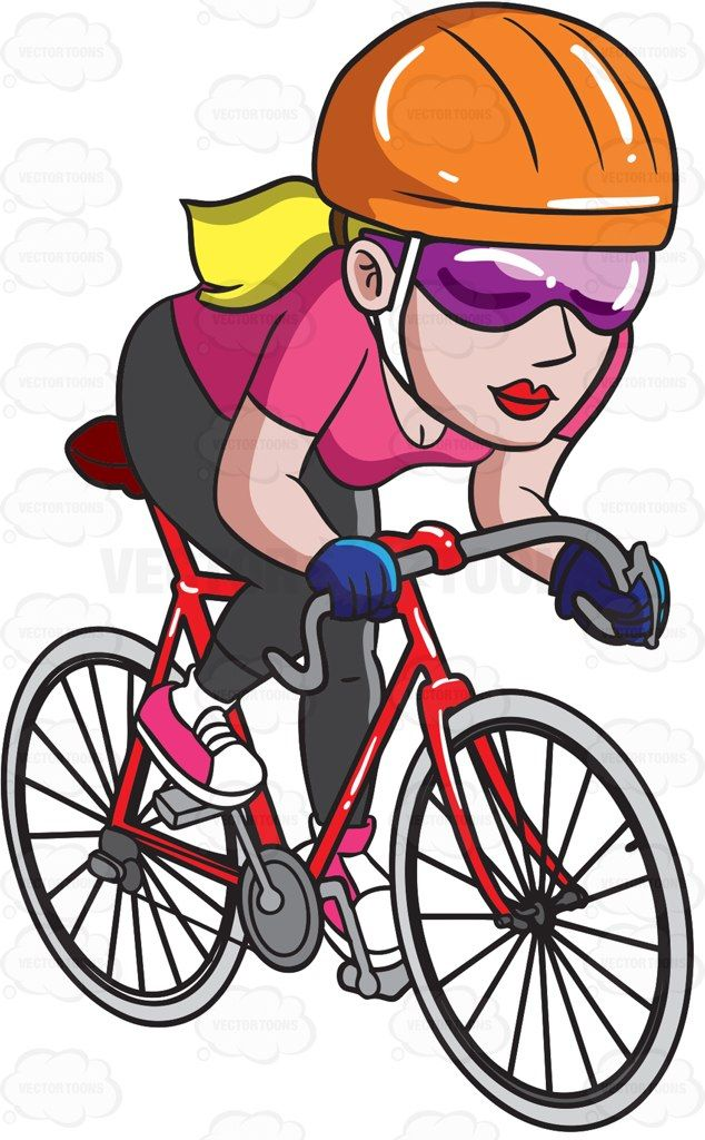 Ride road bike x. Cycling clipart rode