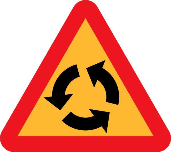 Sign clip art at. Cycle clipart roundabout