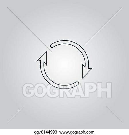 Eps illustration arrow circle. Cycle clipart roundabout