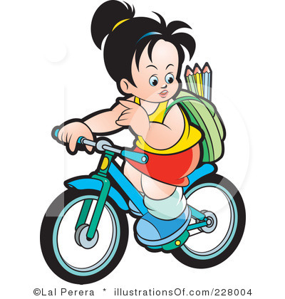 Kids riding bikes panda. Cycle clipart school clipart