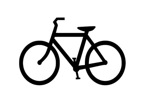 Cycle clipart sponsored. Bicycle bike silhouette cutting