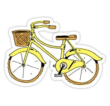 Bike sticker products in. Cycle clipart yellow bicycle