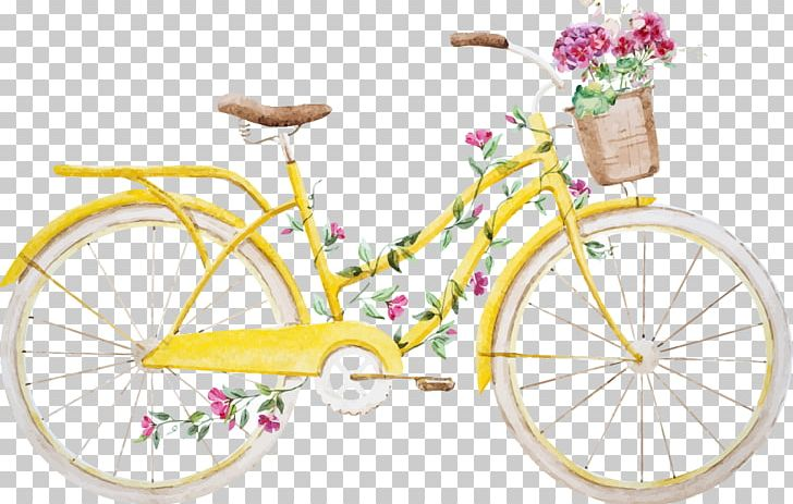 Cycle clipart yellow bicycle. Bike png art accessory