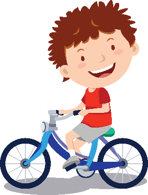 Little boy the arts. Cycling clipart