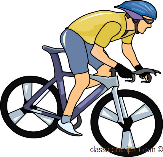 Free . Cycling clipart