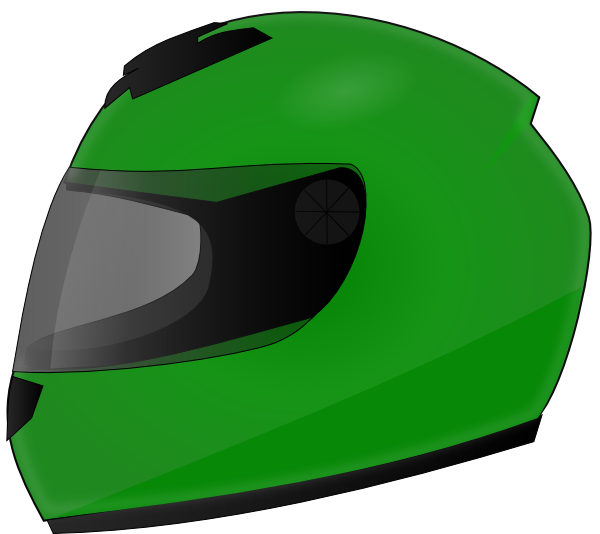 Green clipart motorbike. Bike helmet clip art