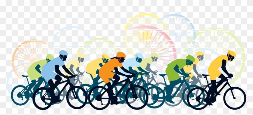 Cycling clipart bike trail. Path logo bicycle race