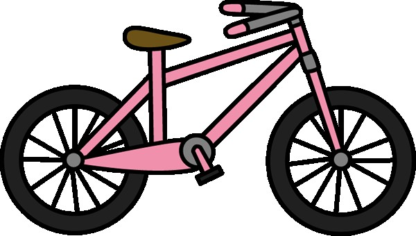 cycling clipart pink bicycle