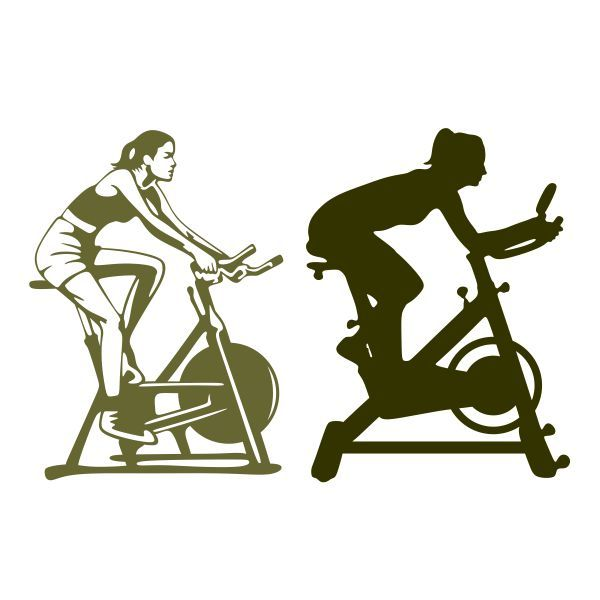 Cycling clipart spinning class. Pin on fitness