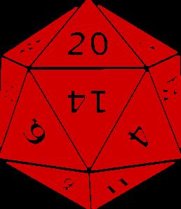 D20 clipart 20 sided dice. Twenty clip art at