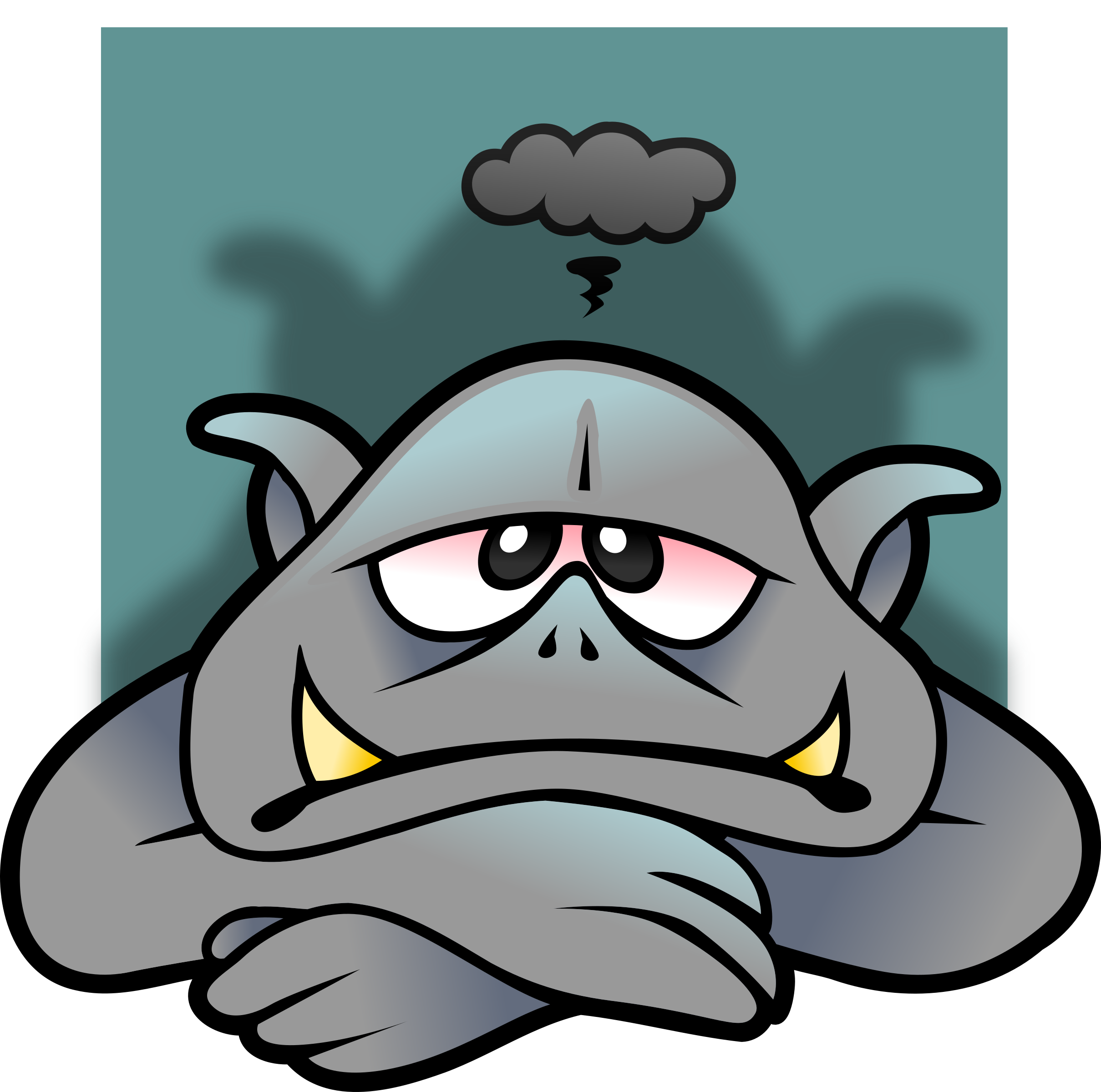 Depressed troll big image. D20 clipart avatar