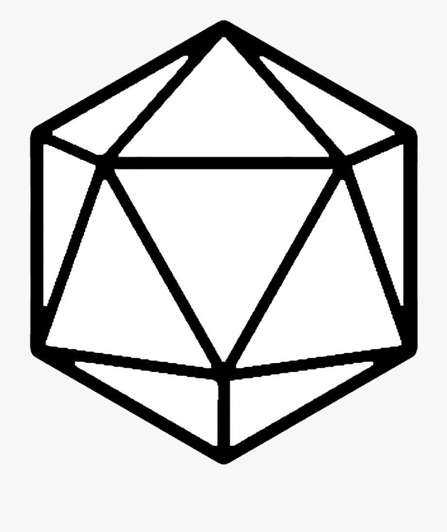 sided dice png. D20 clipart cartoon