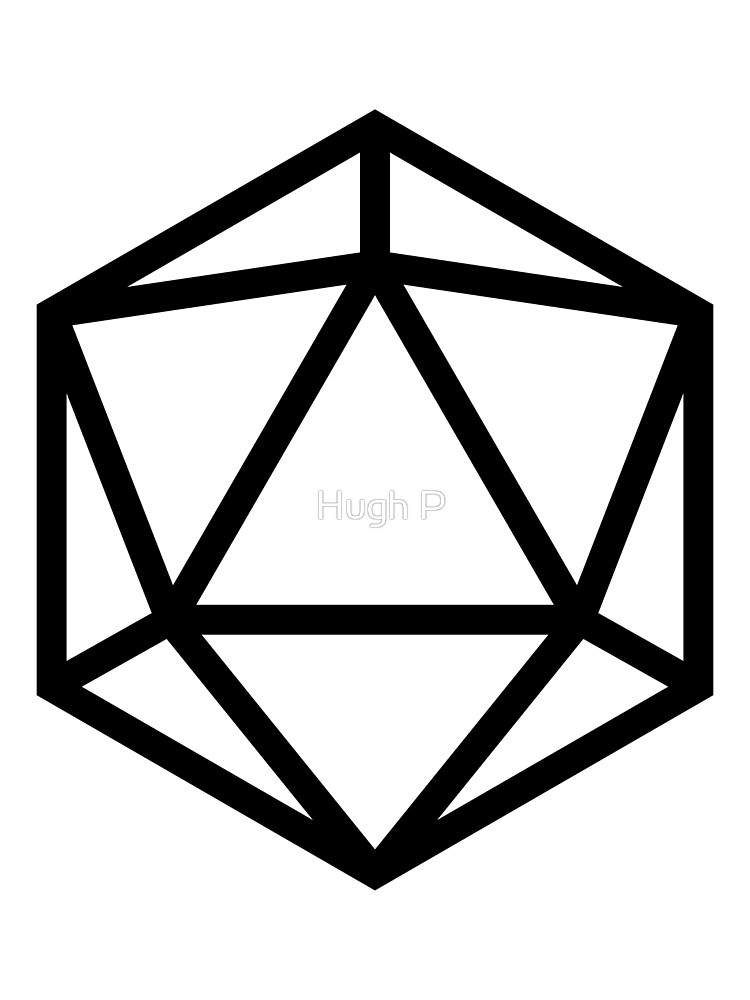 D dice darkest dungeon. D20 clipart flat