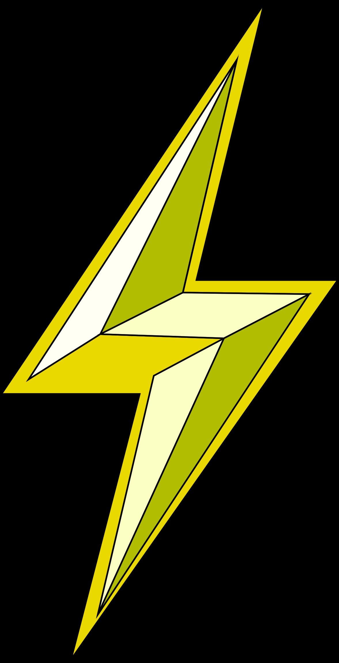 Lightning bolt big image. D20 clipart stylized