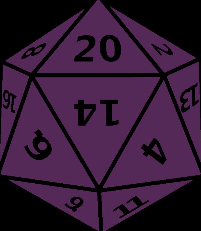 File purple d png. D20 clipart transparent