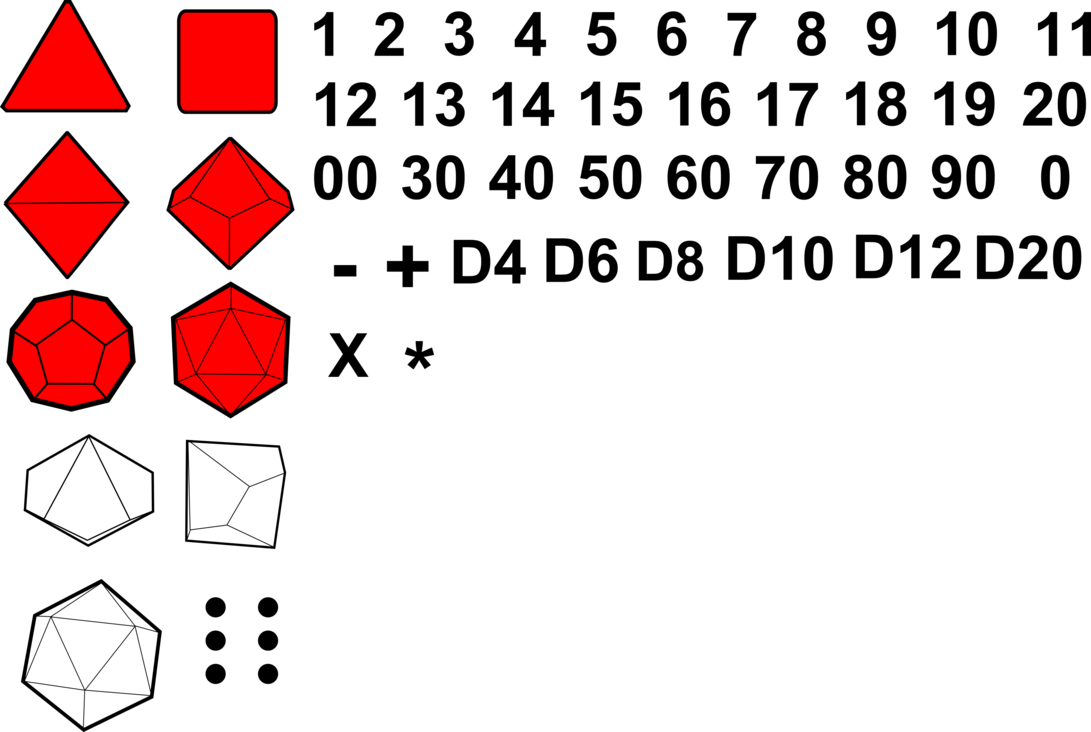 D20 clipart vector. Polyhedral rpg gaming dice