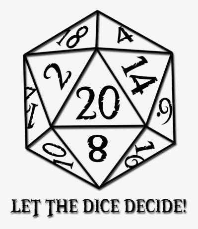 D dice png image. D20 clipart vector