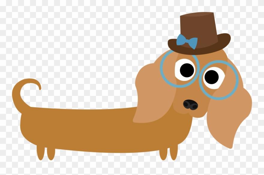 Dachshund clipart animated. Dog canidae cartoon snout
