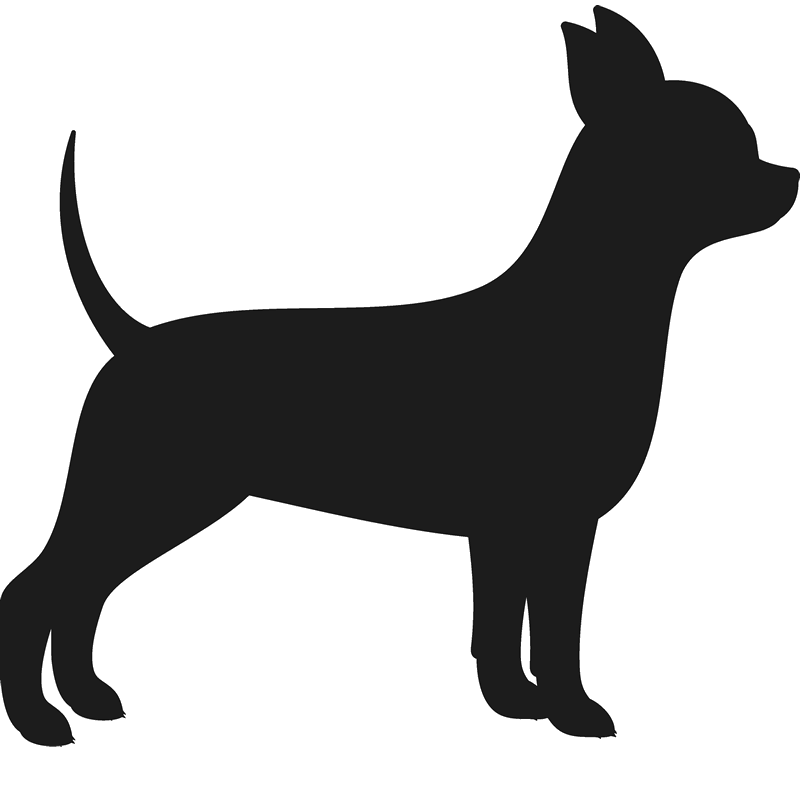Silhouette at getdrawings com. Pawprint clipart chihuahua