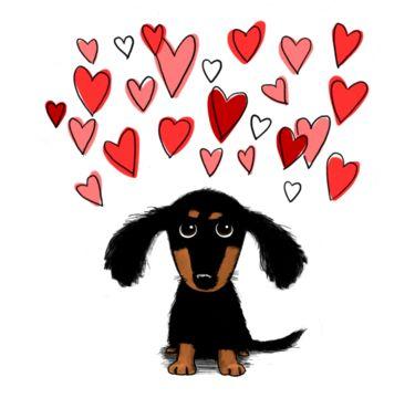Puppy cliparts free download. Dachshund clipart dachshund love