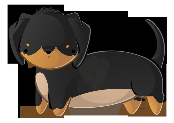 Short haired by kelseykdesigns. Dachshund clipart dachshund love
