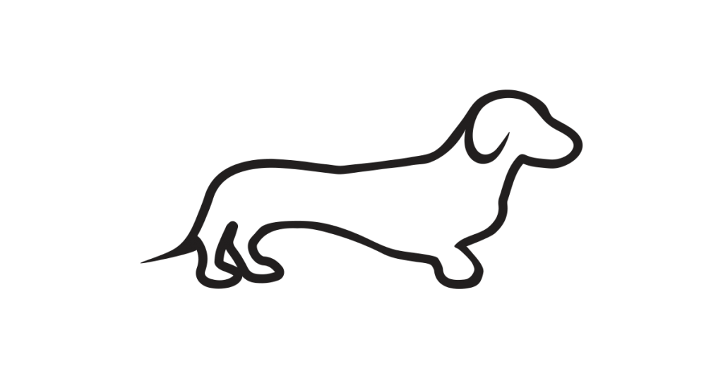 Dachshund clipart dachshund outline.  collection of black
