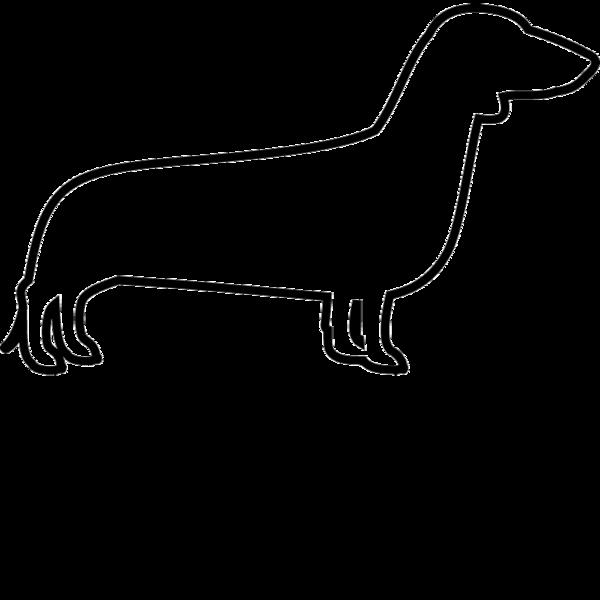 Dachshund clipart dachshund outline. Dog cat fur baby