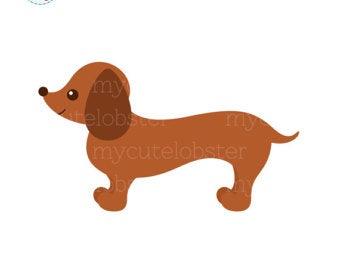 Clip art etsy . Dachshund clipart dachshund puppy