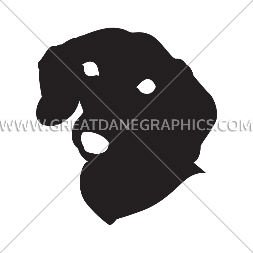 Production ready artwork for. Face clipart dachshund