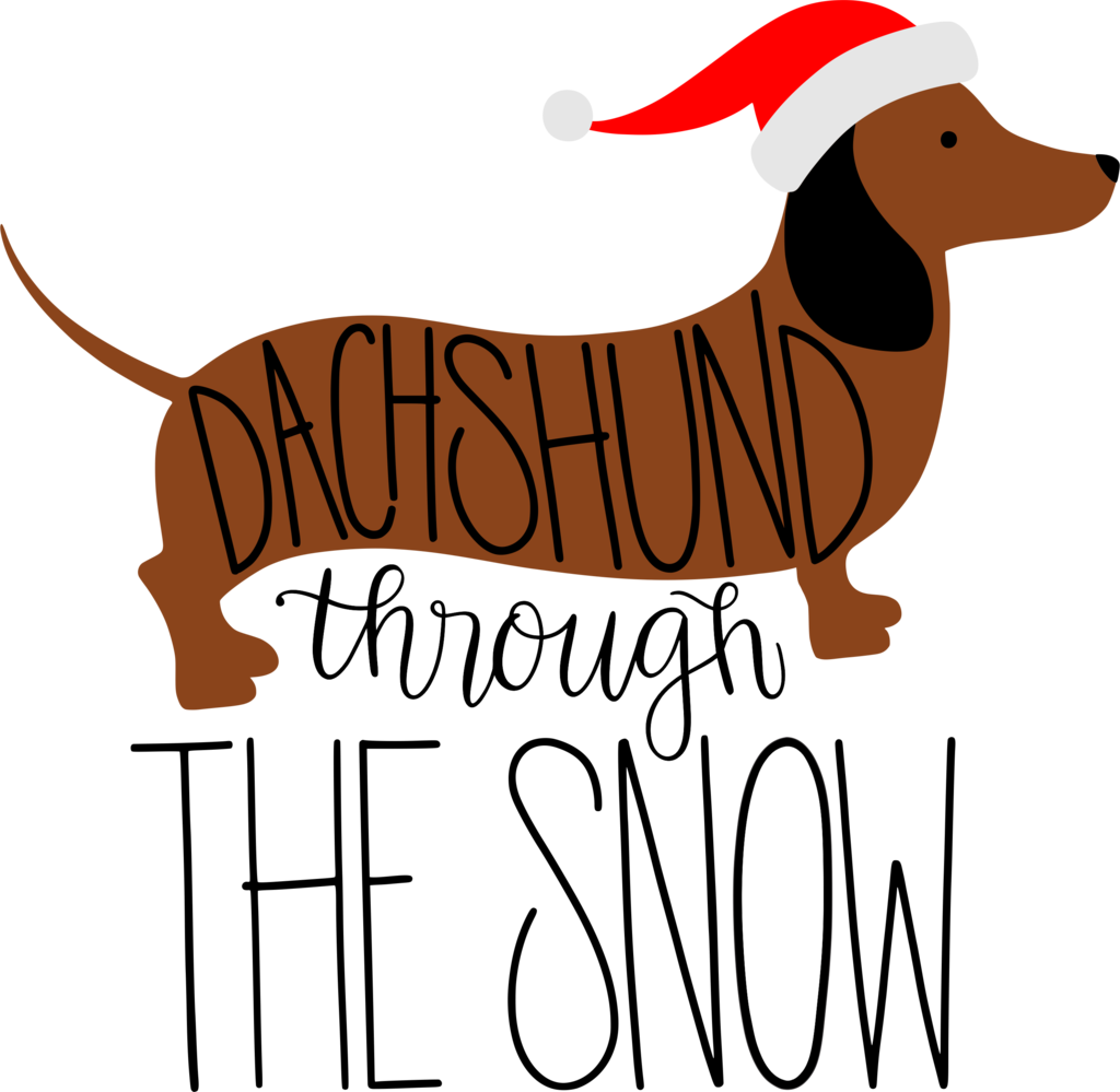 Face clipart dachshund. Christmas transfers albb blanks