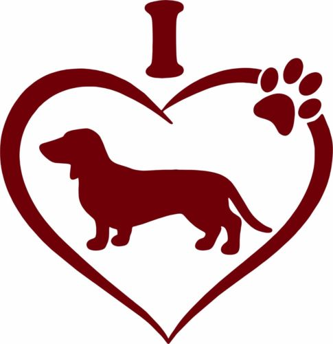 Dachshund clipart i heart. Puppy cliparts free download