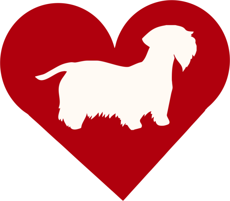 Dachshund clipart i heart. Dog breed decals and