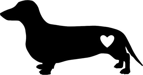 Dachshund clipart svg. Dachsund love cricut dog