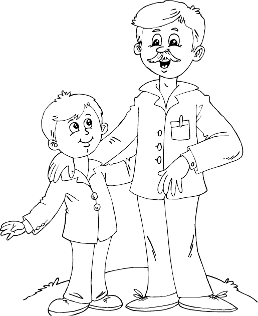 father clipart sketch