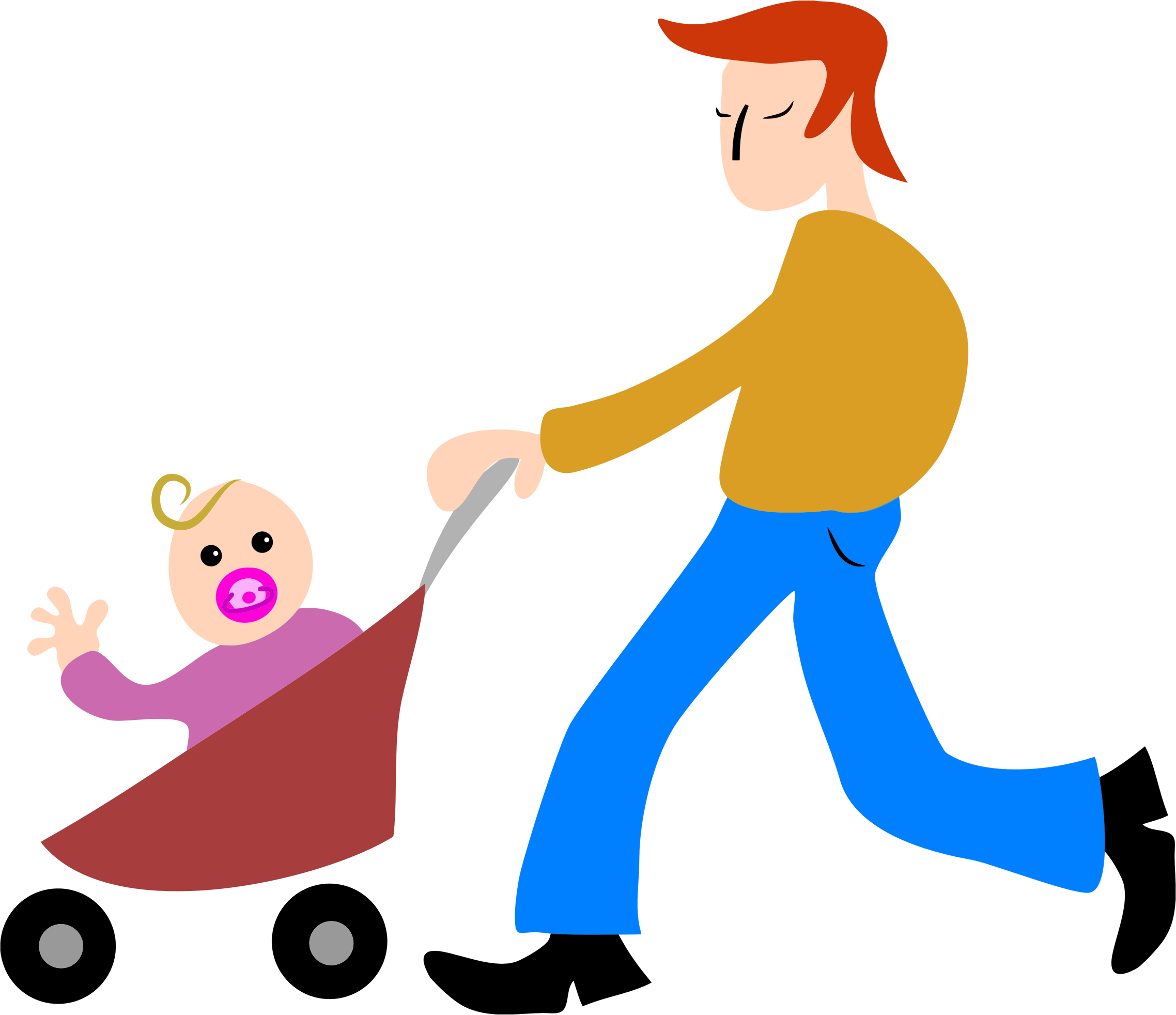 Stroller big image png. Dad clipart father and son