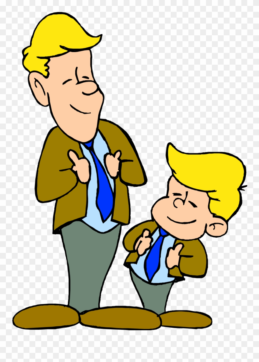 Dad clipart father and son. Manners clip art png