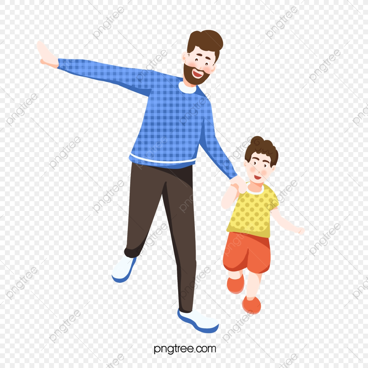 Dad clipart father and son. Walking together png