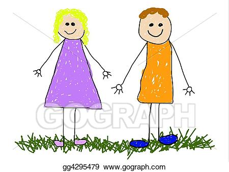 Dad clipart friend. Stock illustration mom and