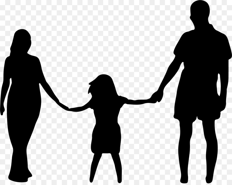 Love black and white. Father clipart mother child
