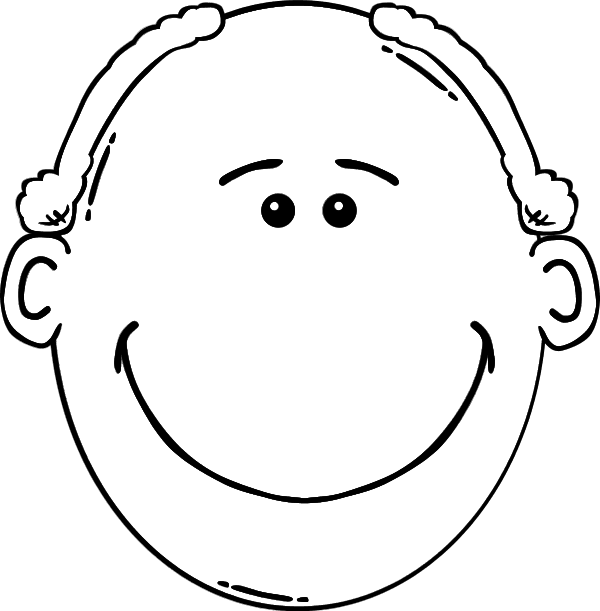 Faces clipart father. Dad face black