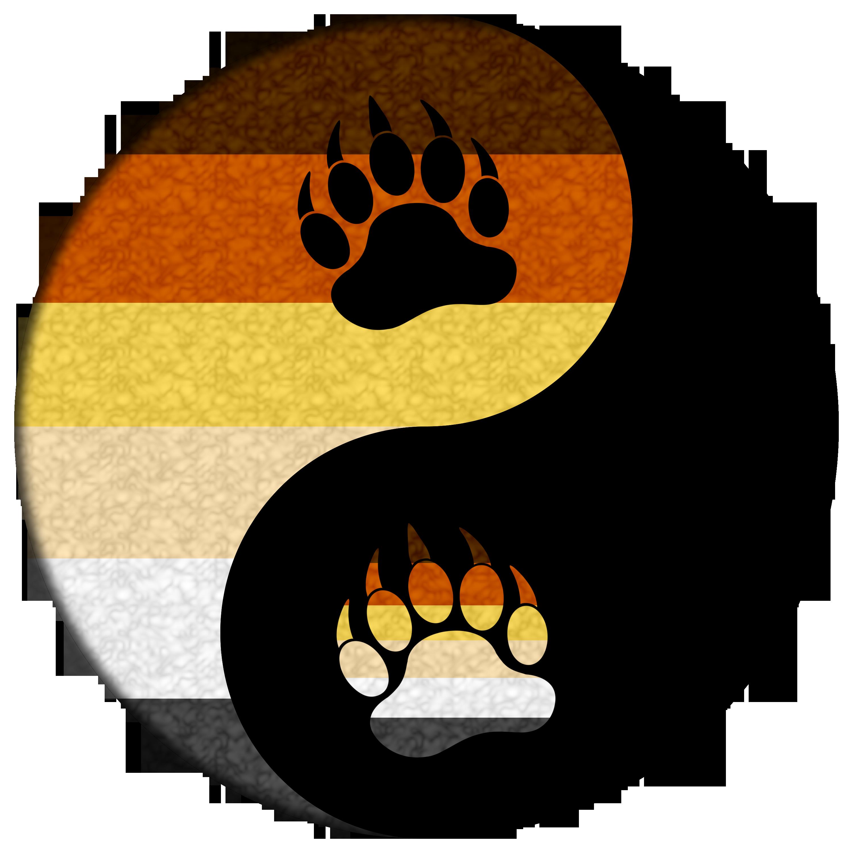 Pride yin and yang. Paw clipart brown bear