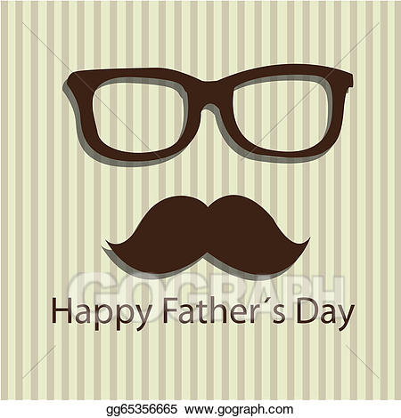 Dad clipart mustache. Eps illustration daddy vector