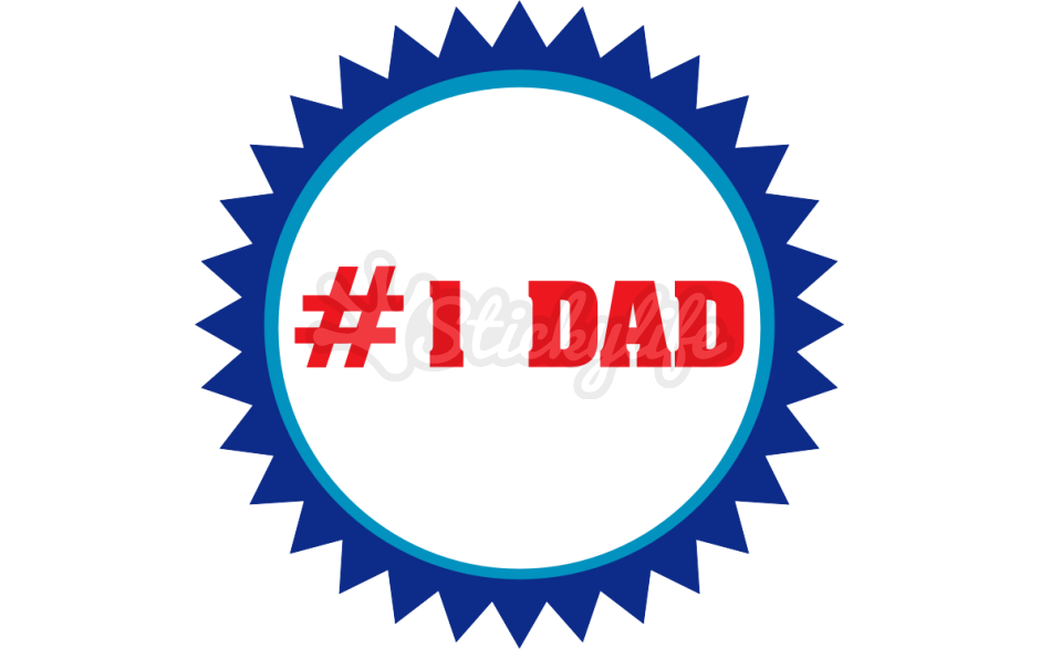 Temporary tattoo custom seal. Dad clipart number 1