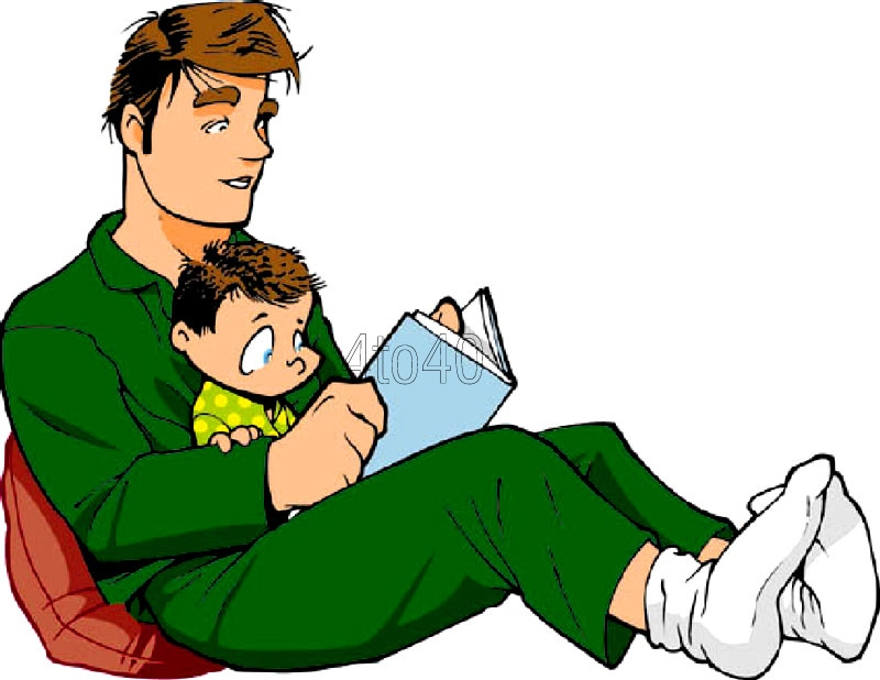 Free cliparts download clip. Father clipart read with dad