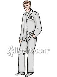 A groom royalty free. Dad clipart standing alone
