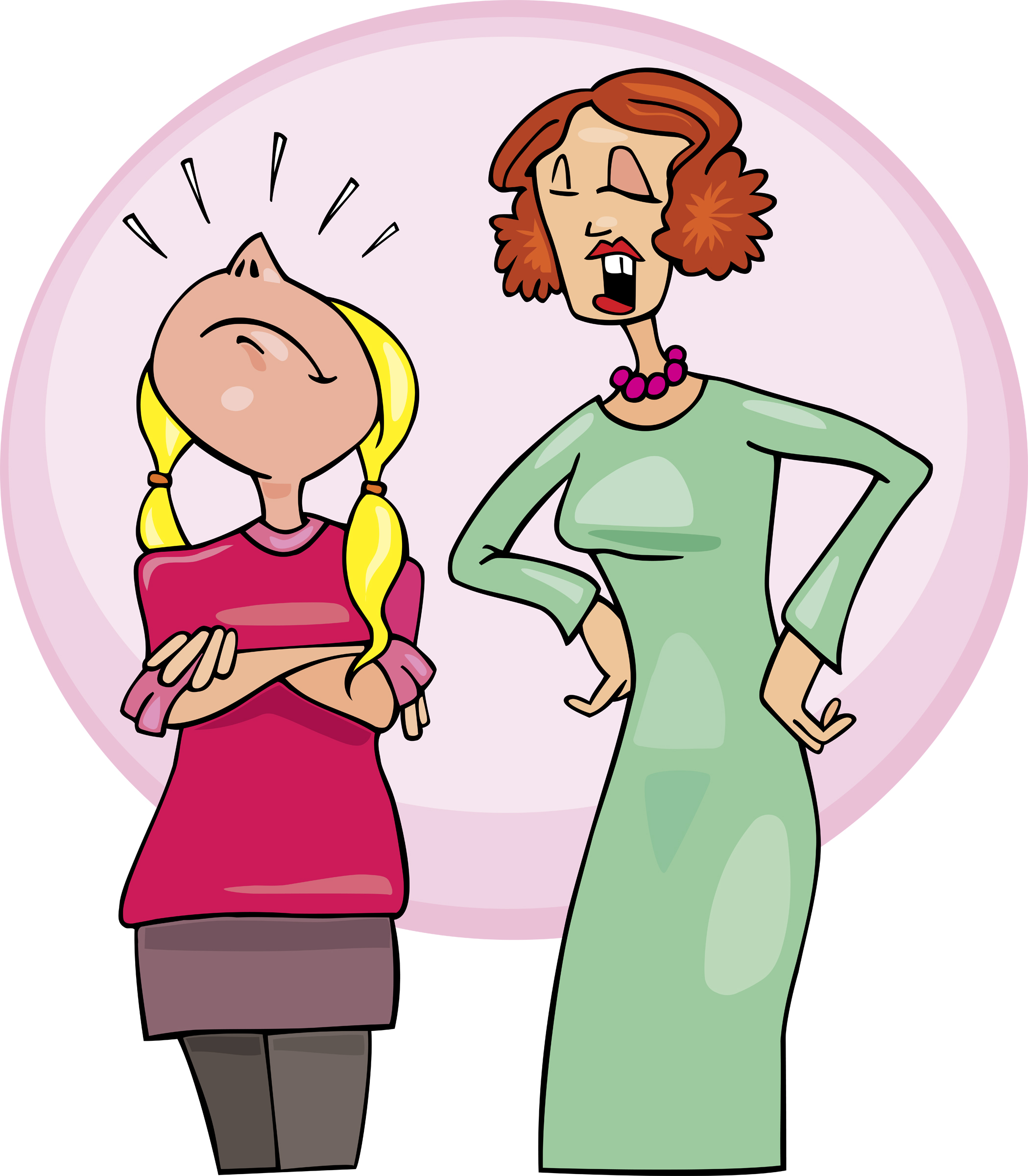 Mother and free download. Yelling clipart strict father