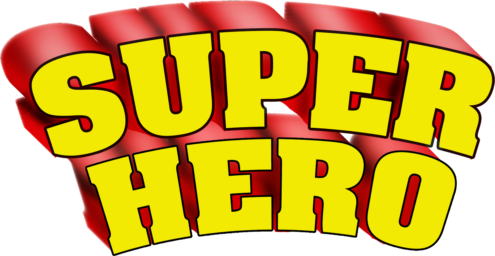 Collection of free heroes. Exercise clipart word