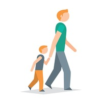 Free father cliparts download. Parent clipart walking