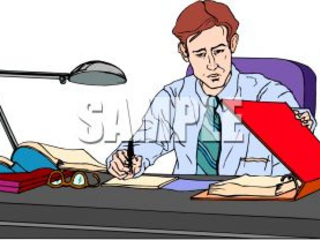 Father clipart work clipart. Working station