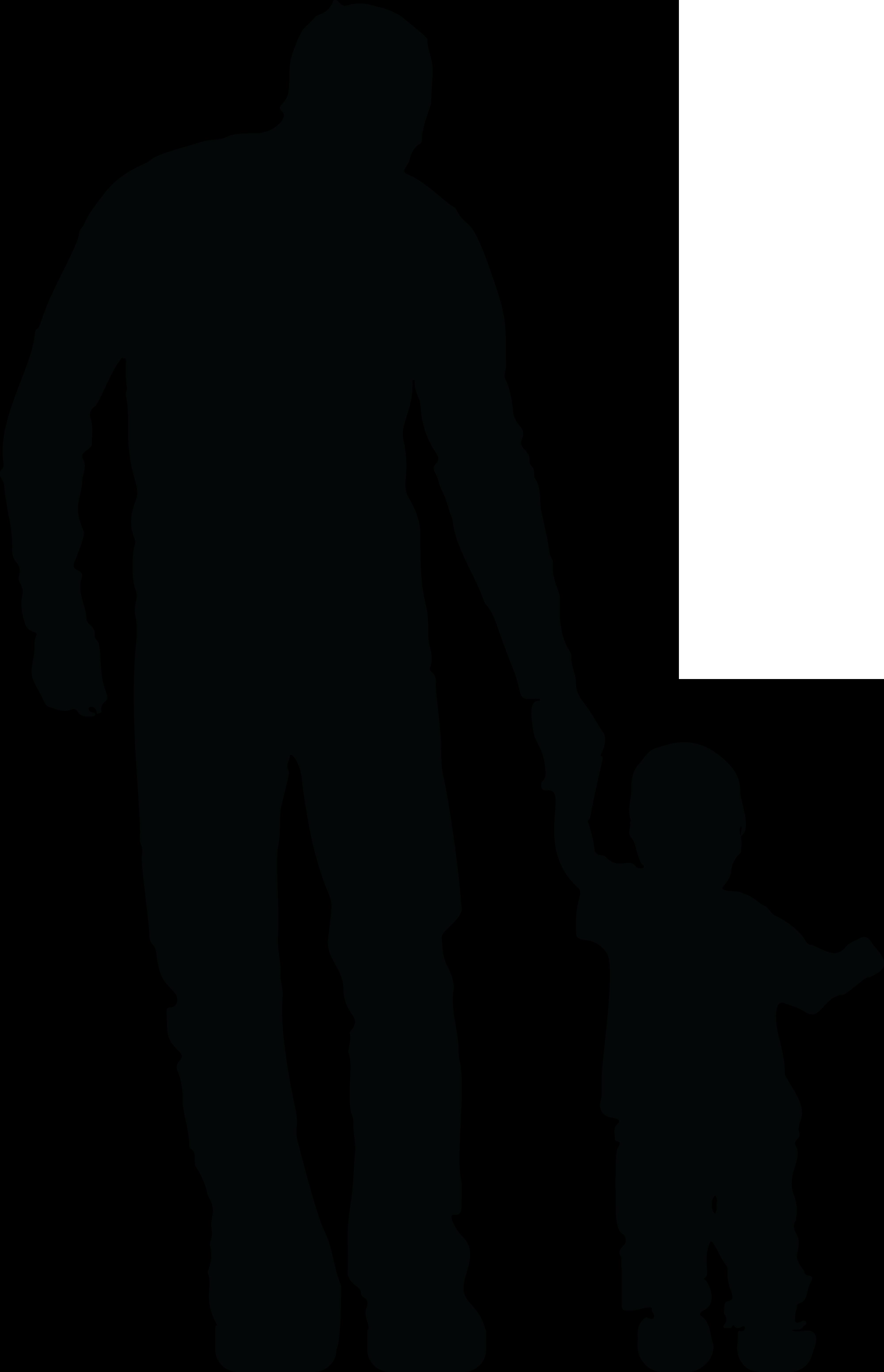 Dad clipart worried.  silhouette huge freebie